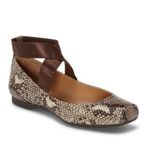 JESSICA SIMPSON Mandalaye Ballet Flat Snakeskin